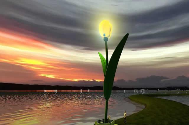 Landmark Tulp op het tulpeiland