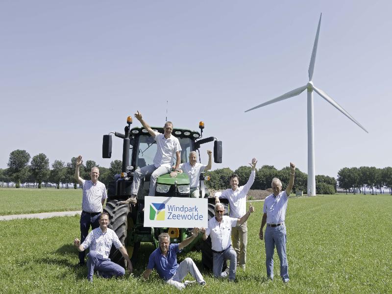 Contracten voor bouw windpark