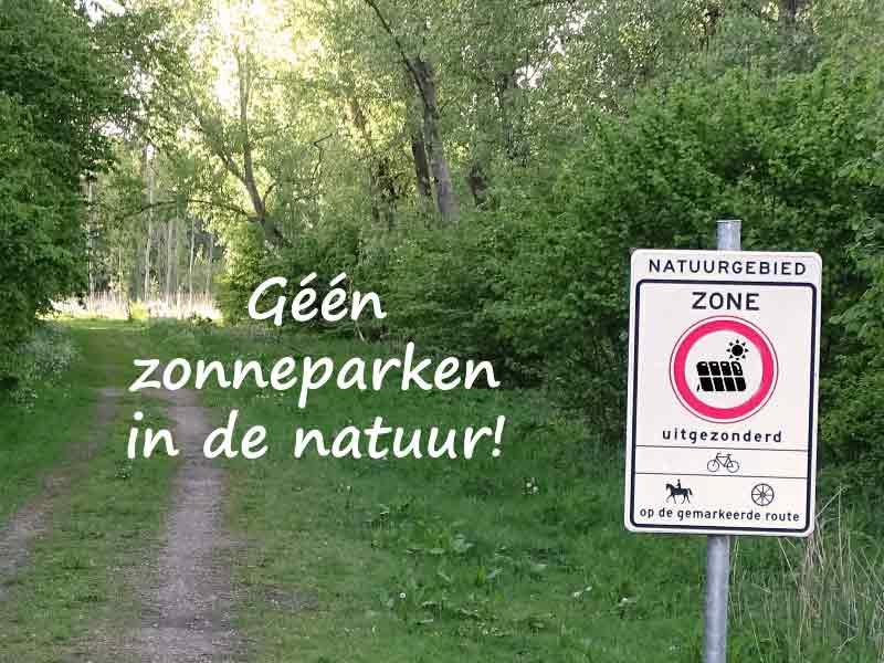 Geen zonneparken in de natuur