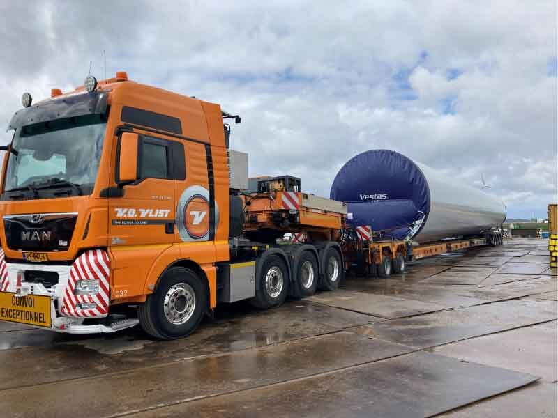 Grote transporten gestart voor Windpark Zeewolde